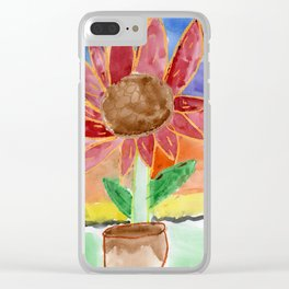 Flower in the Sunset Clear iPhone Case
