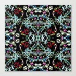 Bling 2, Jewelry Scanography Kaleidoscope Canvas Print