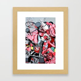 Guerre puDiche Framed Art Print