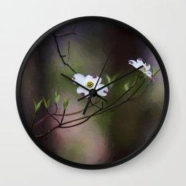 Spring Dogwood Blooms Wall Clock