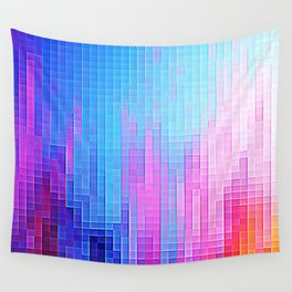 colorfuL Pixels Wall Tapestry