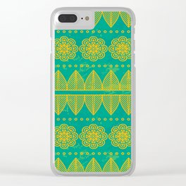 Indian Designs 213 Clear iPhone Case