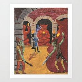 Goblin Ambush Among the Idols Art Print