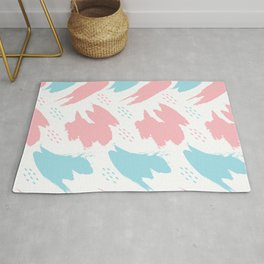 Abstract brush pattern Rug