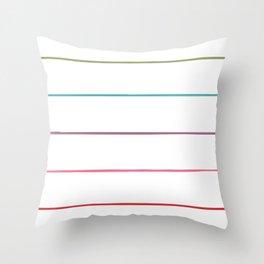 Horizontal Rainbow Stripes Throw Pillow
