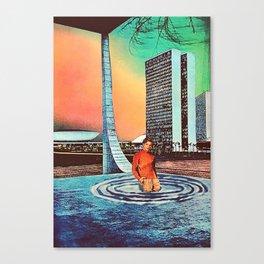 downward spiral Canvas Print