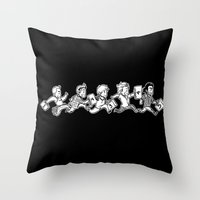 kendrawcandraw Throw Pillows featuring Five by kendrawcandraw