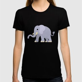 Grey Elephant Right View T-shirt