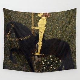 Gustav Klimt - Golden Rider Wall Tapestry
