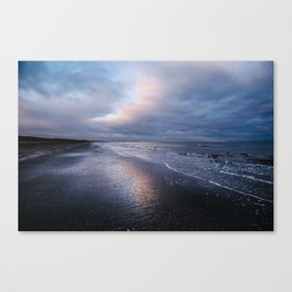 Winter Sunset at Bettystown Canvas Print