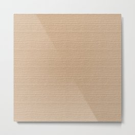 Apricot Illusion Wood Grain Color Accent Metal Print