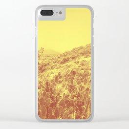 DESERT LANDSCAPE Clear iPhone Case