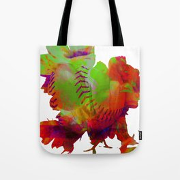Modern Mixed Art - Advanced Spherical Flowers! Tote Bag