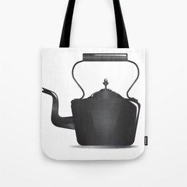Victorian Black Kettle Tote Bag