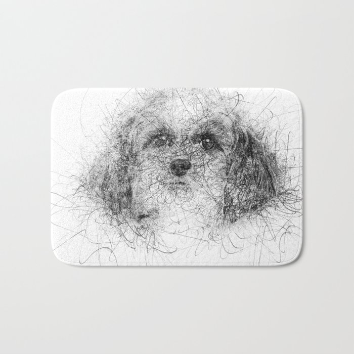 Dog Line Bath Mat