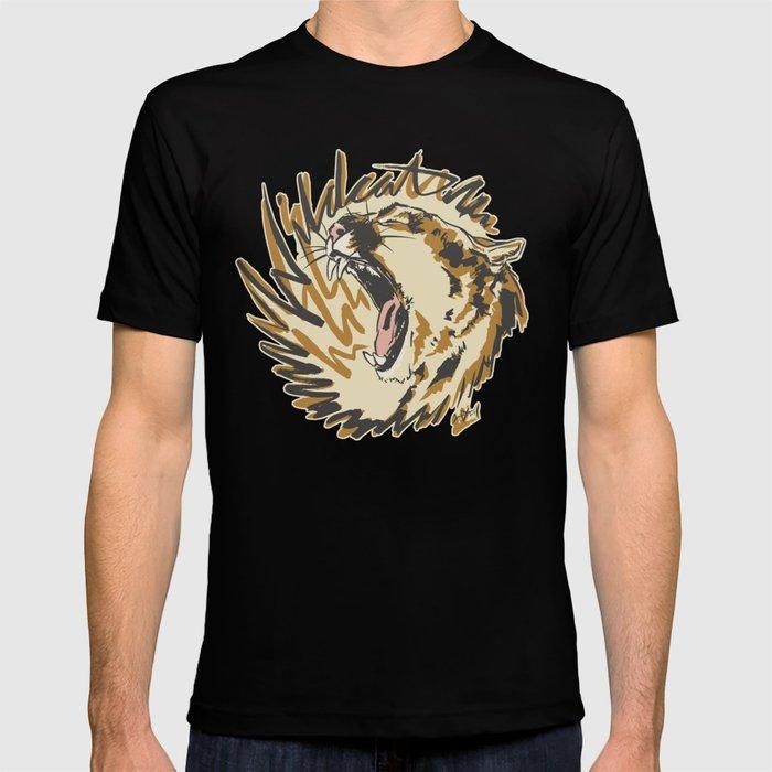 Wildcat Roar - Mountain Lion - Orange Ochre T-shirt