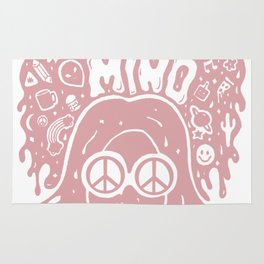 Open Your Mind in pink Rug