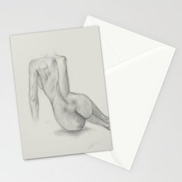 The Beauty of a female body Stationery Cards