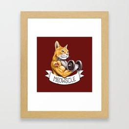 Meowscle Framed Art Print