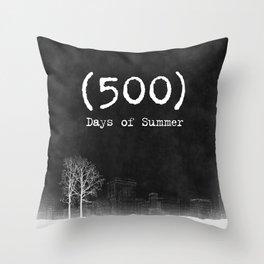 500 Days of Summer Throw Pillow