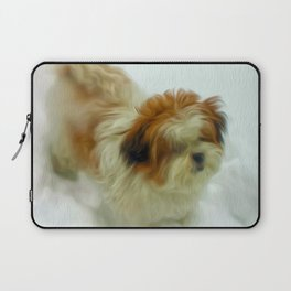 Chewy in snow Laptop Sleeve