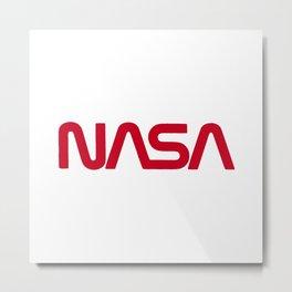 Red Nasa Metal Print