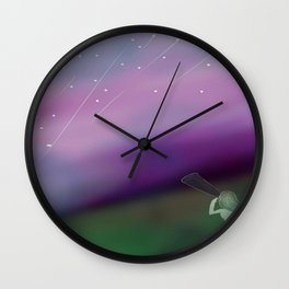 galaxy shower Wall Clock