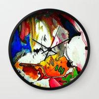joy Wall Clocks featuring Joy by Aaron Carberry
