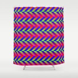 Zig Zag Folding Shower Curtain