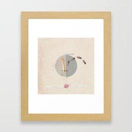 Gravity   Collage Framed Art Print