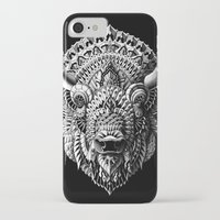 bison iPhone & iPod Cases featuring Bison by BIOWORKZ