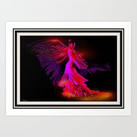 dancer Art Prints featuring Dancer by elkart51