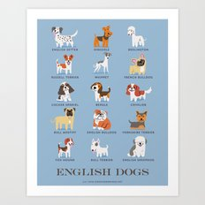 ENGLISH DOGS Art Print