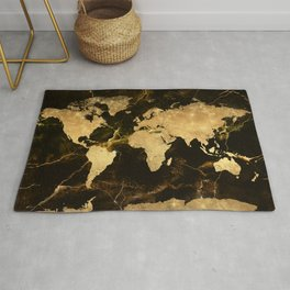 world map marble 5 Rug