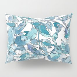 Blue leaves3 by Gosia&Helena Pillow Sham