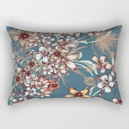 Floral beautiful vector illustration with hand drawn flowers Rectangular Pillow