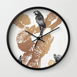 Fluttering Nature II Wall Clock