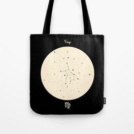 Virgo - Black Tote Bag