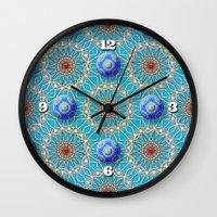 matrix Wall Clocks featuring Empyrean Matrix by Peter Gross
