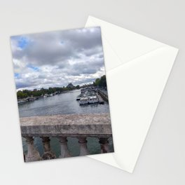 Paris. France.  Seine river Stationery Cards