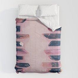 Pink crystals Comforters