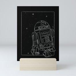 """R2-D2 White"" by Maggie Stephenson Mini Art Print"