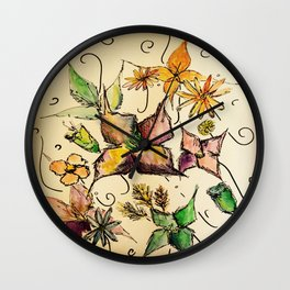 Fruitful Florals Wall Clock