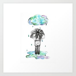 It's the Rain Art Print