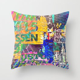 Tropical Pop Art Painting Throw Pillow