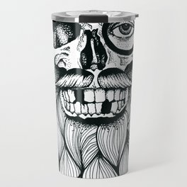 Mr. Skull Beard Travel Mug