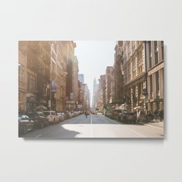 New York City Streets Metal Print