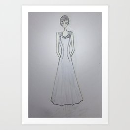ghost noveau Art Print