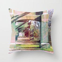 Under the bridge! Throw Pillow