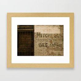 Gritty Wall in Downtown Memphis Framed Art Print